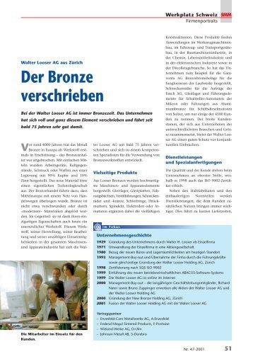 Der Bronze verschrieben - Looser