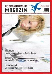 Unzensuriert Magazin 9/2013 - Medien - Leseprobe
