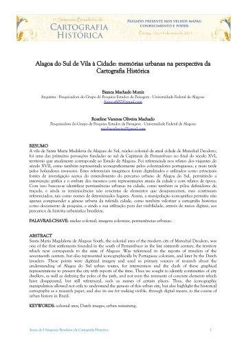 Alagoa do Sul de Vila à Cidade: memórias urbanas na ... - UFMG