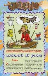 Animali di paneImpastando farina, sale, acqua e - Banda PM