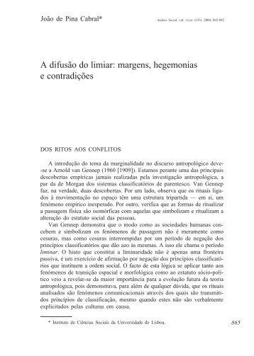 A difusão do limiar: margens, hegemonias e contradições