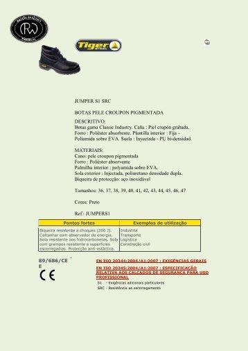JUMPER S1 SRC BOTAS PELE CROUPON PIGMENTADA ...
