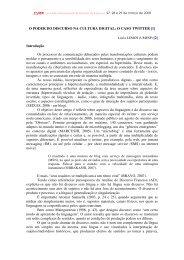 O PODER DO DISCURSO NA CULTURA DIGITAL: O CASO TWITTER
