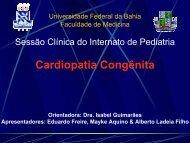 Cardiopatia Congênita - Faculdade de Medicina da Bahia ...