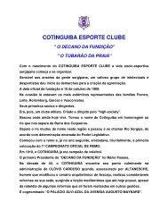 COTINGUIBA ESPORTE CLUBE - Infonet