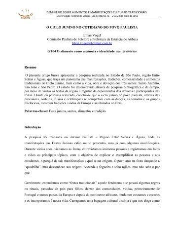 O CICLO JUNINO NO COTIDIANO DO POVO PAULISTA.pdf - Grupam