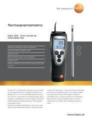 Catálogo Anemómetro testo 425 - Logismarket