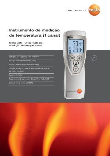 Catálogo do instrumento de medição de temperatura ... - TestoSites