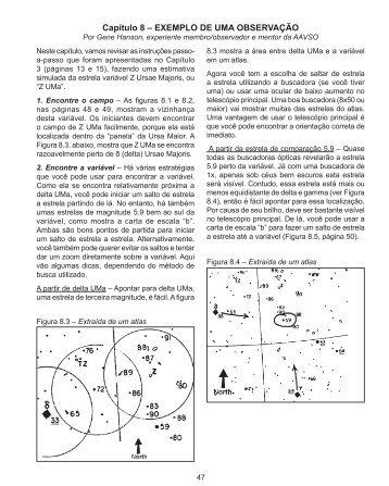 Capítulo 8 – EXEMPLO DE UMA OBSERVAÇÃO - AAVSO