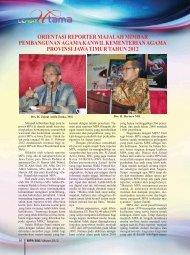 Orientasi Reporter Majalah Mimbar Pembangunan ... - Kemenag Jatim