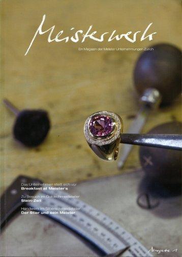 Ein Magazin der Meister Unternehmungen Zürich - zai