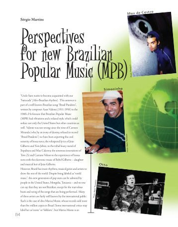 Perspectives for new Brazilian Popular Music