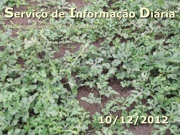 Serviço de Informação Diária 10/12/2012 - Secretaria da Agricultura ...