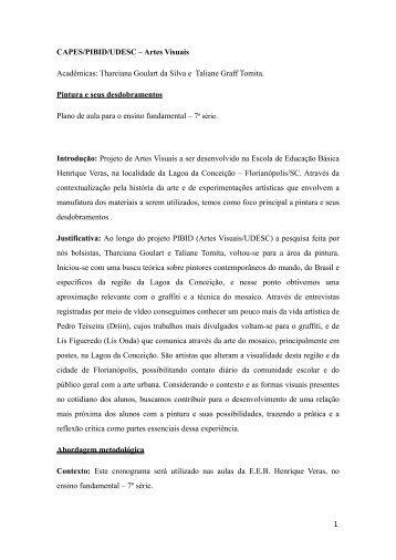 CAPES/PIBID/UDESC – Artes Visuais Acadêmicas ... - Cultura Visual