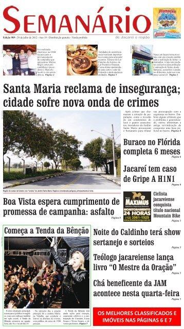 Santa Maria reclama de insegurança - Semanário de Jacareí