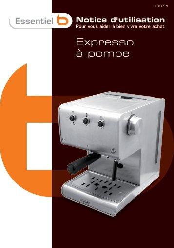 Notice expresso Ess b EXP 1 V.4.0 (A5) - Boulanger