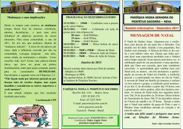 Informativo Dezembro/2011 - Paróquia Nossa Senhora do Perpétuo ...