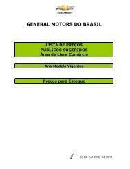 GENERAL MOTORS DO BRASIL - Sefin