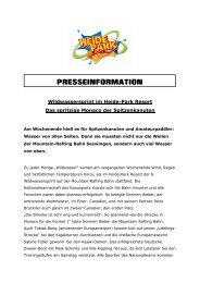 PRESSEINFORMATION - Heide Park Resort