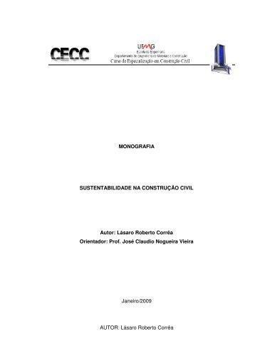 MONOGRAFIA SUSTENTABILIDADE NA ... - CECC - UFMG