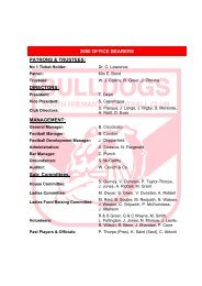 2000-2009 Office Bearers - South Fremantle Football Club