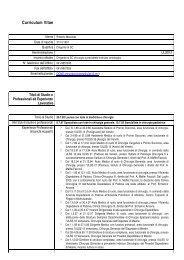 Curriculum Merenda Roberto - Azienda Ulss 12 veneziana