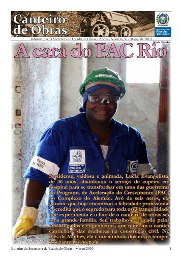 Canteiro de Obras - Governo do Estado do Rio de Janeiro