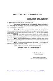LEI N.º 4.058 – de 11 de novembro de 2011. - Prefeitura Municipal ...