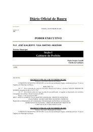 Diário Oficial de Bauru - Prefeitura Municipal de Bauru - Governo do ...