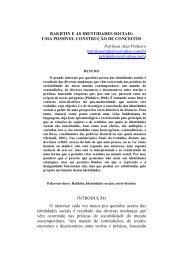 BAKHTIN E AS IDENTIDADES SOCIAIS: UMA POSSÍVEL ...
