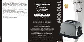 Manual Torradeira PREMIUM T-02 Rev Mai-11 - Mondial