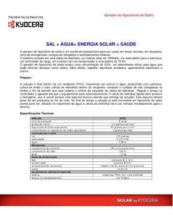 Saiba Mais - Kyocera Solar do Brasil