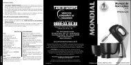 Manual Batedeiras Premium Mondial B-04 07-12 Rev06