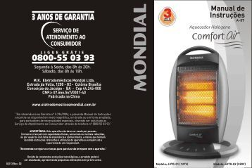 Manual Aquecedor Halógeno Mondial A-07 02-13 Rev02