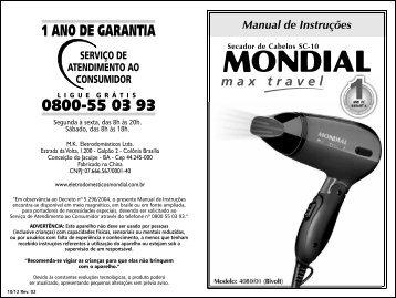 Manual_Secador Max Travel SC-10 10-12 Rev02 - Mondial
