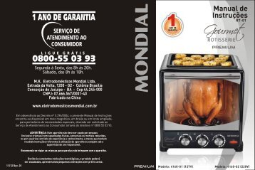 Manual Forno ROTISSERIE RT-01 11-12 Rev 01 - Mondial