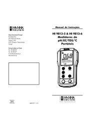 Manual de Utilização - Hanna Instruments Portugal
