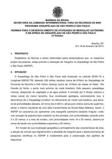 SÃO PEDRO e SÃO PAULO - Marinha do Brasil