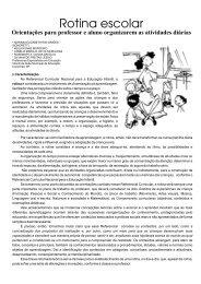 rotina escolar.cdr - Secretaria Municipal da Educação