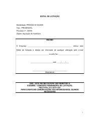 EDITAL DE LICITAÇÃO Modalidade: PREGÃO Nº 04 ... - Codemig