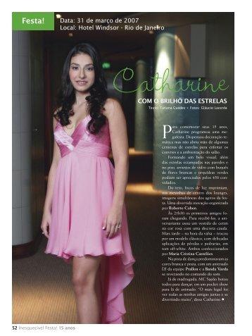 Catharine - RJ (Ed.01) - Inesquecível Festa 15 Anos