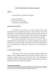 AULA 5: BrOffice Writer – Mala Direta e Etiqueta Objetivo Ao final ...
