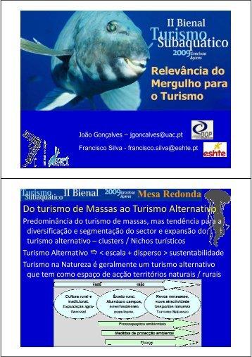 Relevância do Mergulho para o Turismo o Turismo Do turismo de ...