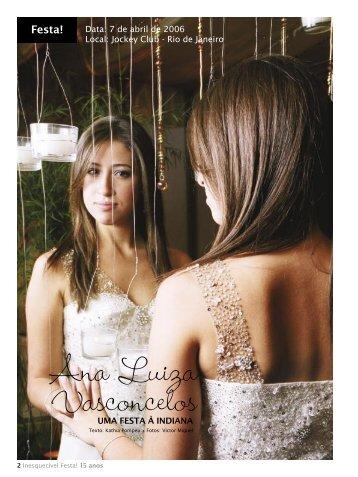 Ana Luiza Vasconcelos - Inesquecível Festa 15 Anos