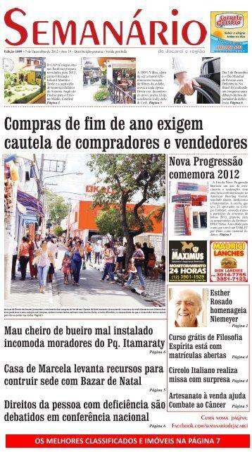 Edição 1009, de 7 de Dezembro de 2012 - Semanário de Jacareí
