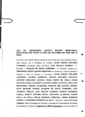 CAMARA MUNICIPAL DE' sAo JOSE DO RIO PRETO