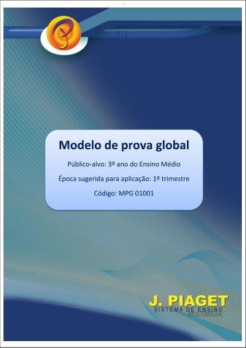 Modelo de prova global - Sistema de Ensino J.Piaget