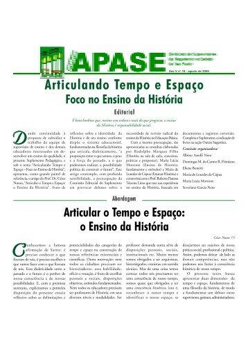 Ano V - Edição 18 - agosto de 2006 - APASE
