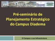 Apresentação do Seminário de Pré-Planejamento - Unifesp