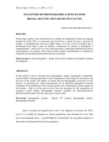 Sandra Sofia Machado Koutsoukos - UFES - Universidade Federal ...